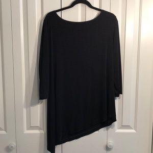 Chicos size 3 black asymmetrical tunic. like new
